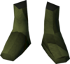 Colonist's shoes (yellow) detail