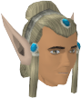 Elf-style wig (silver, male) chathead