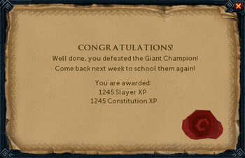 Giant Champion reward