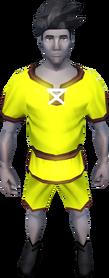 Gnomeballer's kit (yellow) equipped