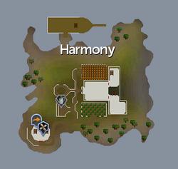 Harmony Island map