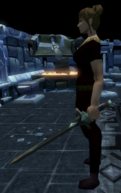 Off-hand marmaros longsword equipped
