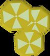Sliced banana detail