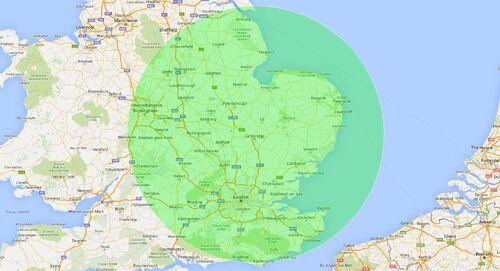 100 mile radius map news image