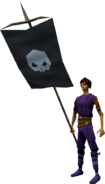 Banner (Skull) equipped