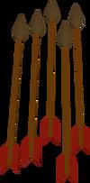Flecha de bronze detalhe
