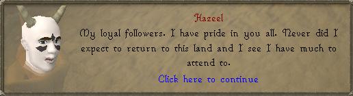 Hazeel praat