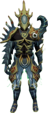 Ocean's Warrior outfit equipped