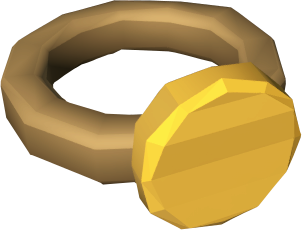 Ring of coins detail