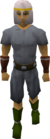 White helm equipped old