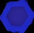 Blue hexagon detail
