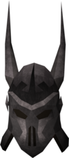 Máscara de Virtus detalhe