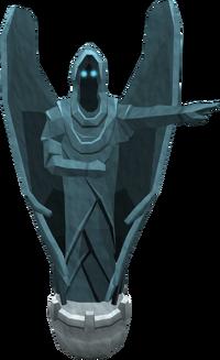 Snow angel statue
