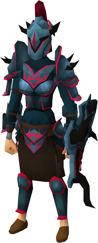 Zamorak armour set (sk) equipped