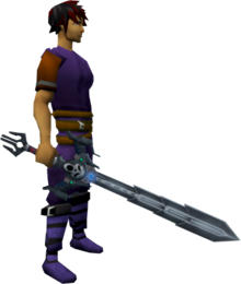 Augmented Wilderness sword 4 equipped