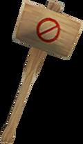 Ban hammer detail