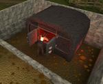 Burning sheep bones