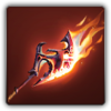 Scorching axe icon
