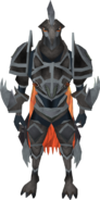 Golem of Justice armour equipped (male)