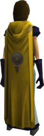 Hooded invention cape equipped