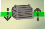 Oak treasure chest (flatpack) detail