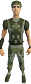 Snakeskin armour (male) equipped