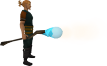 Staff of air equipped