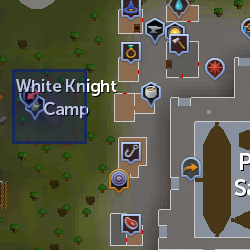 White Knight Camp location
