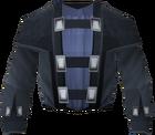 Black wizard robe top detail