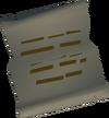 Christopher's letter detail