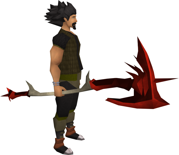 Dragon halberd equipped