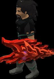Escudo ogival dragônico equipado