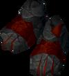 Ruby golem boots detail