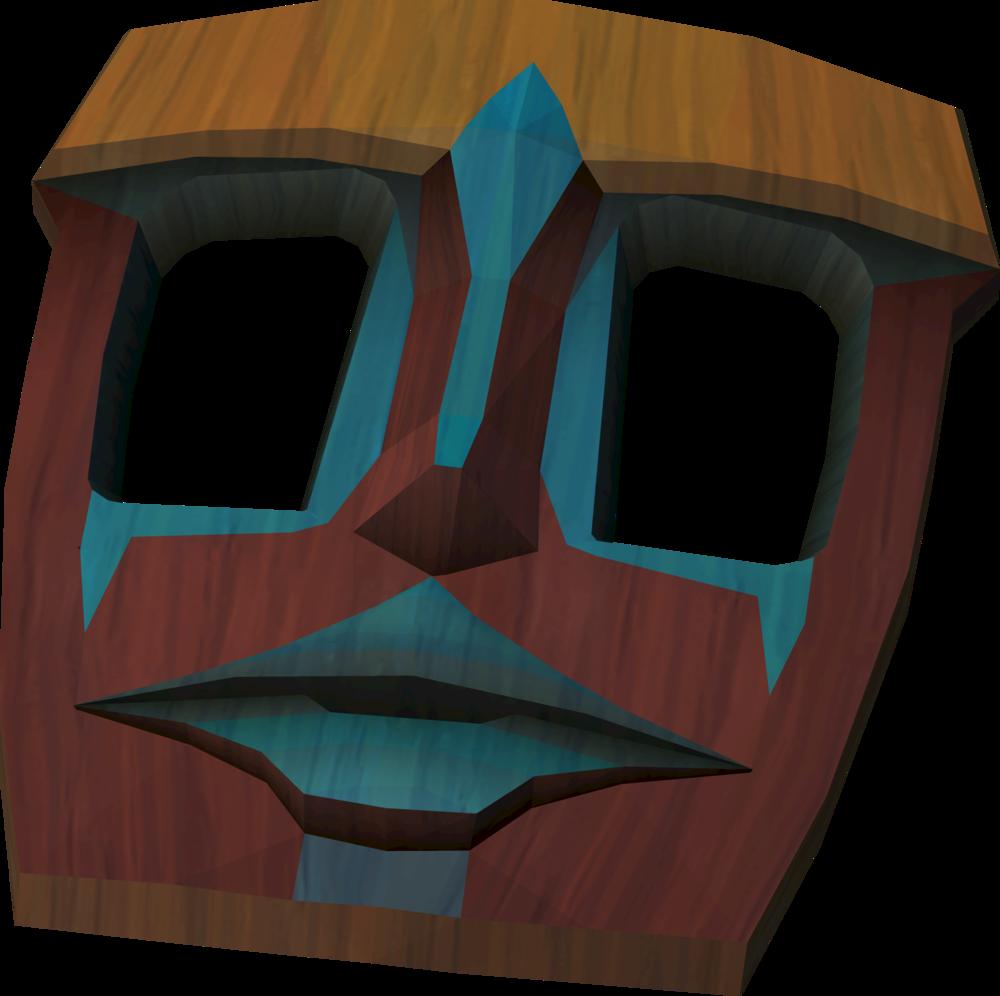 Tribal mask decoration detail