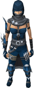 Assassin outfit equipped (female)
