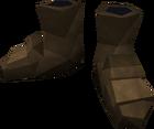 Bronze boots detail