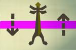 Mahogany cape rack (flatpack) detail