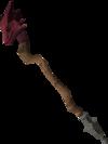 Dragon staff detail