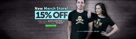 New Merch Store head banner