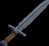 Off-hand steel sword detail