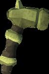 Off-hand zephyrium warhammer detail
