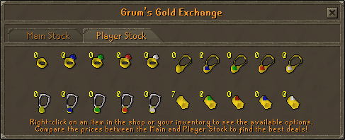 Grum's gold exchange