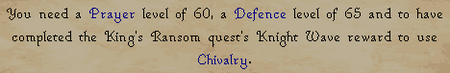 Chivalry message