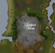 Eagles' Peak (location) map