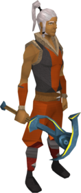 Gilded rune pickaxe equipped