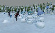 Land of Snow snowmen battle