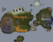 Miscellania and Etceteria dungeon entrances locations