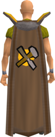 Retro crafting cape equipped