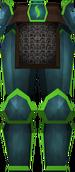 Rune platelegs (Guthix) detail
