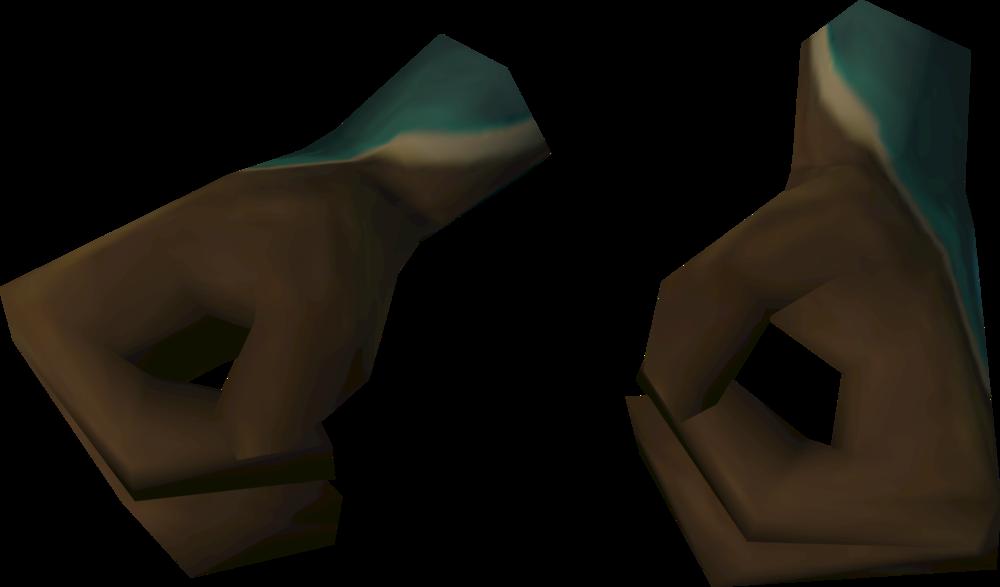 Thinker gloves detail